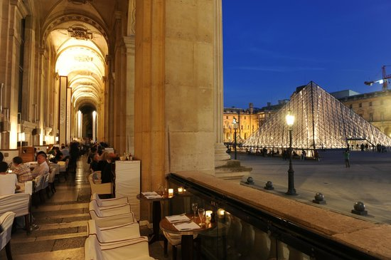 Cafe Marly In The Louvre Paris