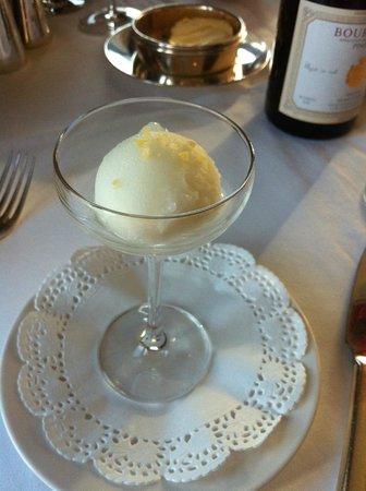 Aghadoe Heights Hotel & Spa: Lemon sorbet
