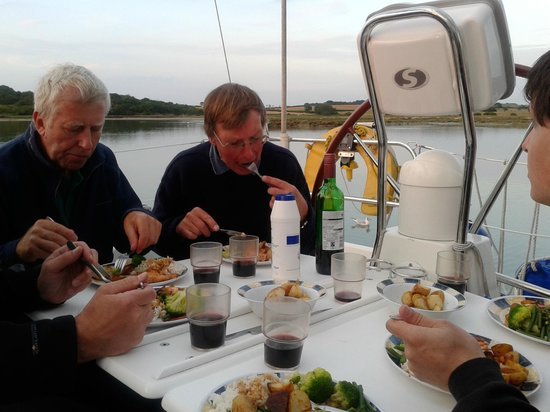 First Class Sailing: Dinner is served