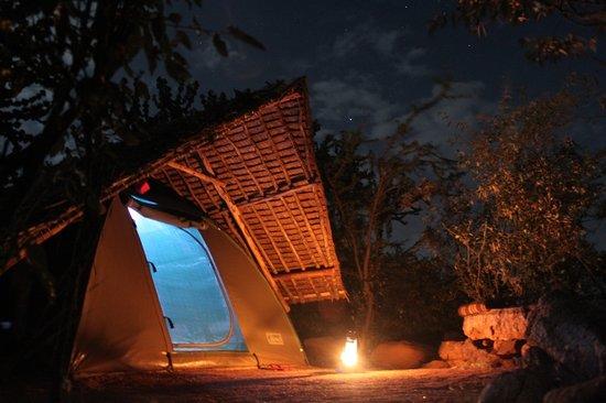 Eyes on Africa Safaris: Maji Moto - Tent by night