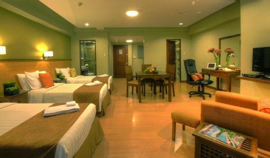 The Malayan Plaza: Studio Triple Deluxe Room