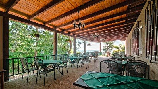 Hotel Myslivna: Small terrace