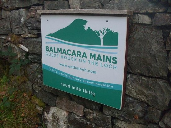 Balmacara Mains Guesthouse: The Sign