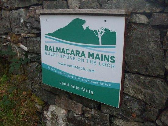 Balmacara Mains Guesthouse: The Sign