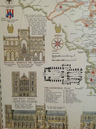 Ripon Cathedral: Excellent picture of church plan