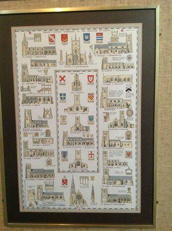 Ripon Cathedral: Nice poster of Ripon area churches