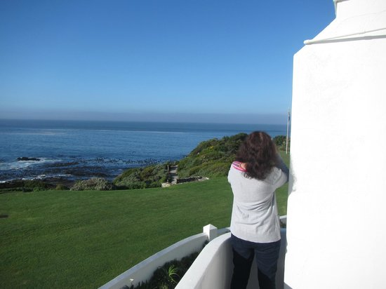 The Marine Hermanus: Looking for whales from the ballcony of suite 227