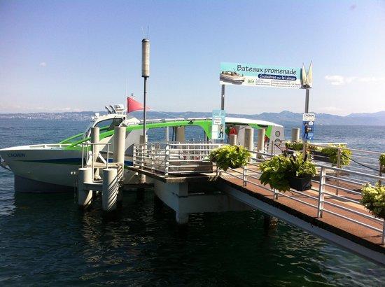 Les jardins de l'eau du Pré Curieux : Bateau électrosolaire l'Agrion