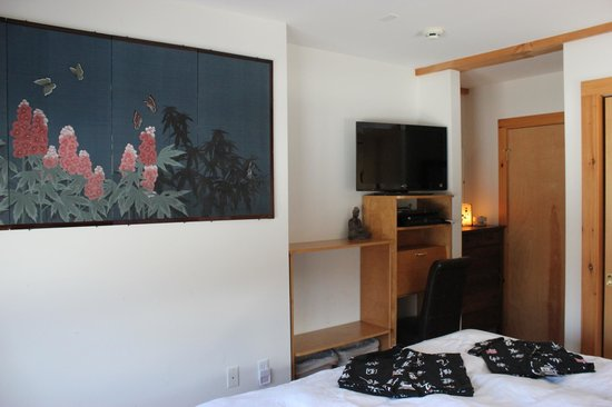 Berkshires Shirakaba Guest House: Each room in Suite has it's own TV/DirecTV cable hard drive/blu ray player w/ netflix