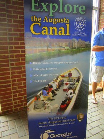 "Georgia Visitor Information Center - Augusta: Boat Canal Tours ""On My List To Do"""