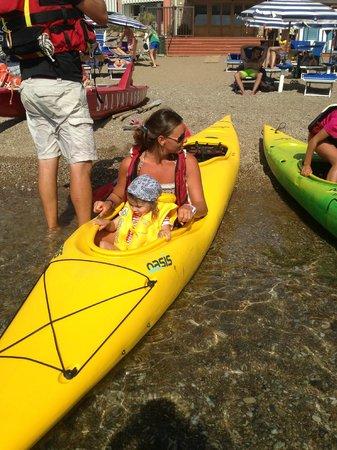 Hotel Stella Maris : gita canoa con Chiara e Stefano