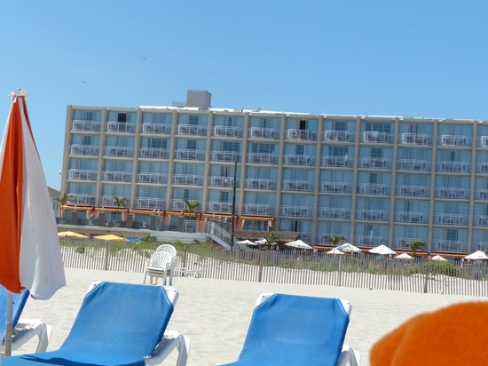Ocean Club Hotel: View of the hotel from the beach