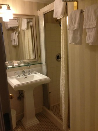 Mayflower Park Hotel: Bathroom with shower