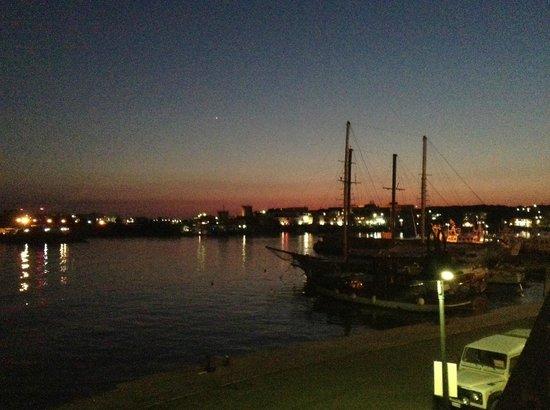 Ristorante Porthotel Calandra: veduta del porto dal ristorante