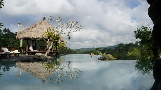 Dara Ayu Villas & Spa : Big infinity pool and down below is a big jacuzzi(not shown in pic)