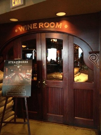 WIne room - Picture of Steamworks, Vancouver - TripAdvisor