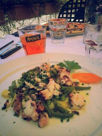 Ristorante Il Vapore - Hotel Risi -: Octupus salad and aperolspitz
