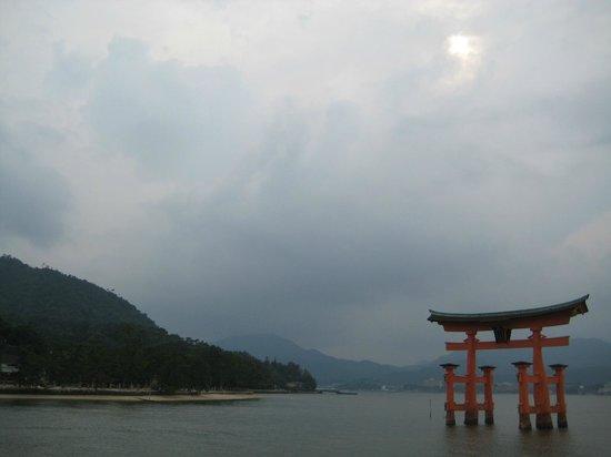Miyajima: The torii at high tide.