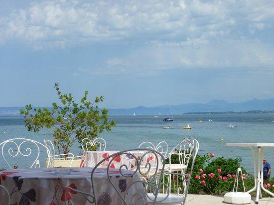 Hôtel-Restaurant de la Plage : Vue de la terrasse