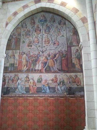 Limburger Dom: Wandgemälde der Ahnenreihe Jesu