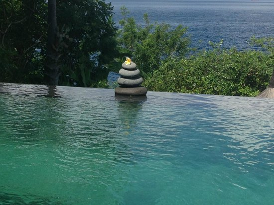 Shunyata Villas Bali: Our own pool and an ocean view