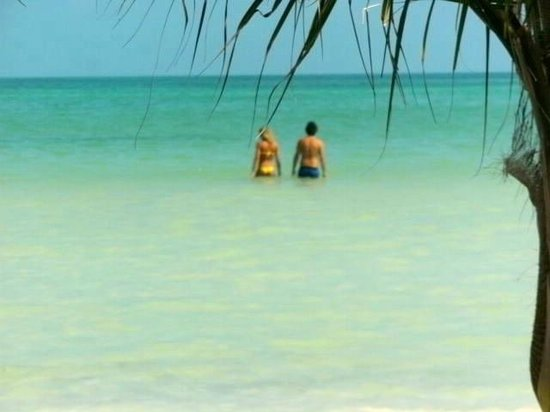Beachfront La Palapa Hotel Adult Oriented : couples and more couples you can walk forever and never get above your waist