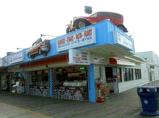 Route 66: Side entrance to dining room.