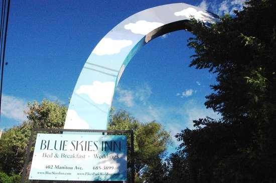 Blue Skies Inn: The blue skies arch