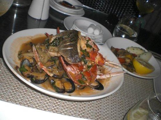 Quadro Restaurant at The Westin Dragonara Resort: Fish platter with lobster