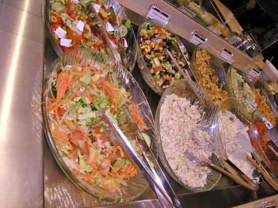 salad bar picture of aneesa 39 s buffet restaurant. Black Bedroom Furniture Sets. Home Design Ideas