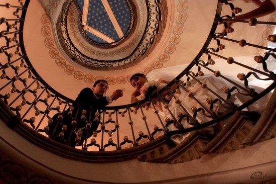 Hotel Museo Palacio de San Agustin: escalera helicoidal