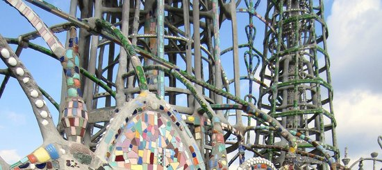 Watts Towers: all salvaged and recycled materials