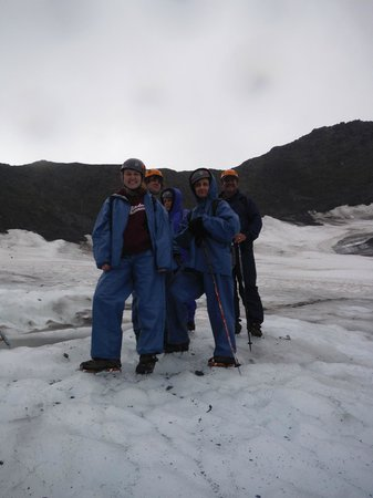 Ascending Path: Ready to go on the glacier