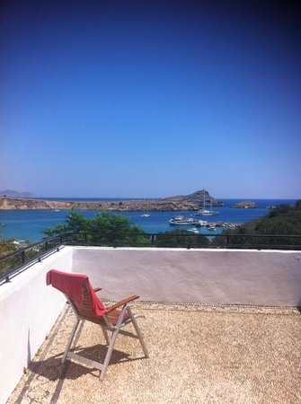 Thea Villas: lindos bay view from terrace