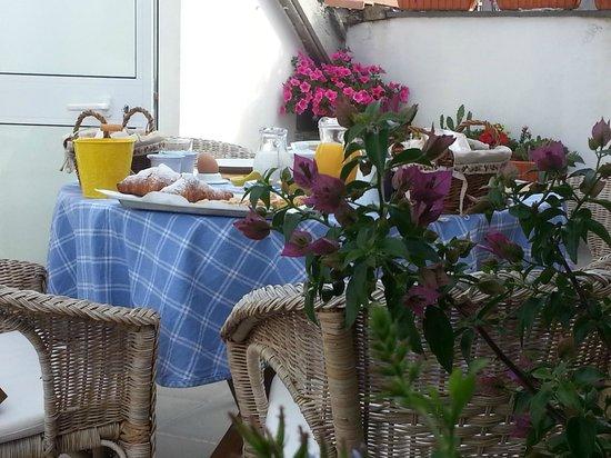 B&B Il Viandante: terrazza delle colazioni