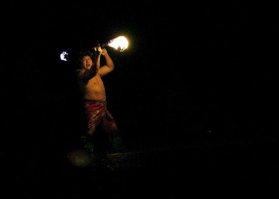 Smith Family Garden Luau: The Fire dancer...