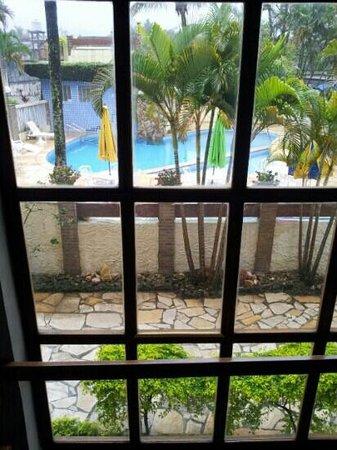 Villa'l Mare Hotel : Corredores do hotel com vista para a piscina