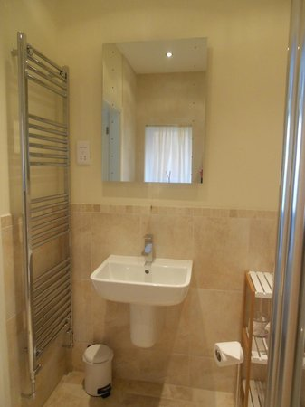 Bracken Lodge Bed & Breakfast: Heated towel rail and mirror with built-in lights in room 1