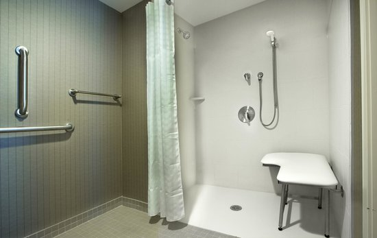 Homewood Suites by Hilton Newport Middletown: Accessible Shower