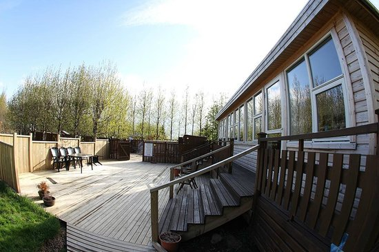 Nature-Spa Guesthouse: the access to the hot pool