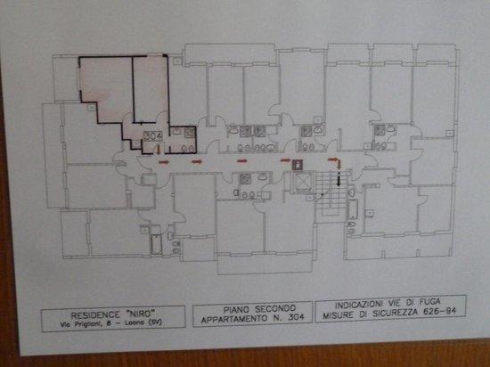 Residence Niro: Un plan de la disposition des chambres