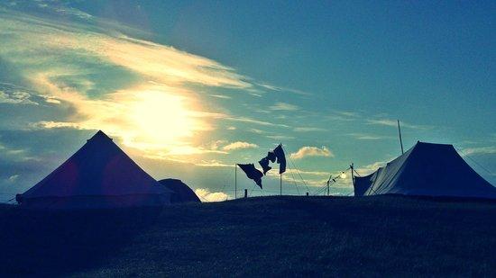 Campingplatz Palisadendiek: ob nur eine Nacht oder wochenlang - gemütlich