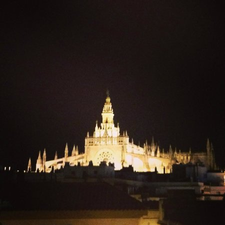 La Banda Rooftop Hostel Sevilla: Cathedral view from the roof