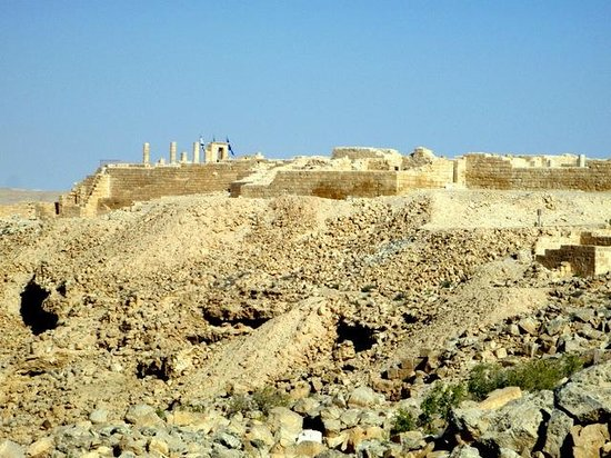 Nabatean Avdat Acropolis: Walls of the ancient village