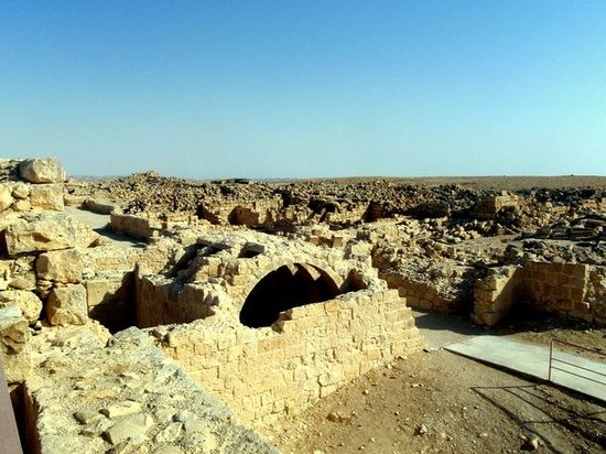 Nabatean Avdat Acropolis: Some of the ruins