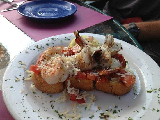 The Road Toad: Shrimp Bruschetta