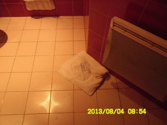 Best Western Seine West Hotel: Чужие вещи и использованное полотенце