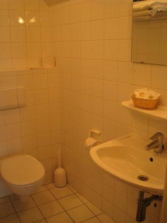 Hotel Malleberg : baño basico, pero limpio
