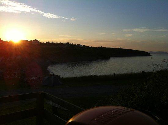 Camping Tete d'Indien: Vue de soir / sunset