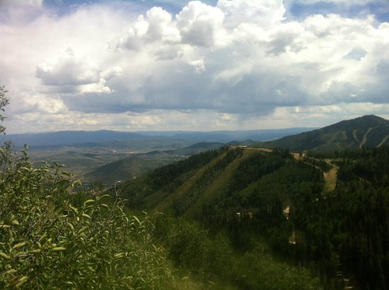 Canyons Village at Park City: View from hike - mid mountain range @ the canyons